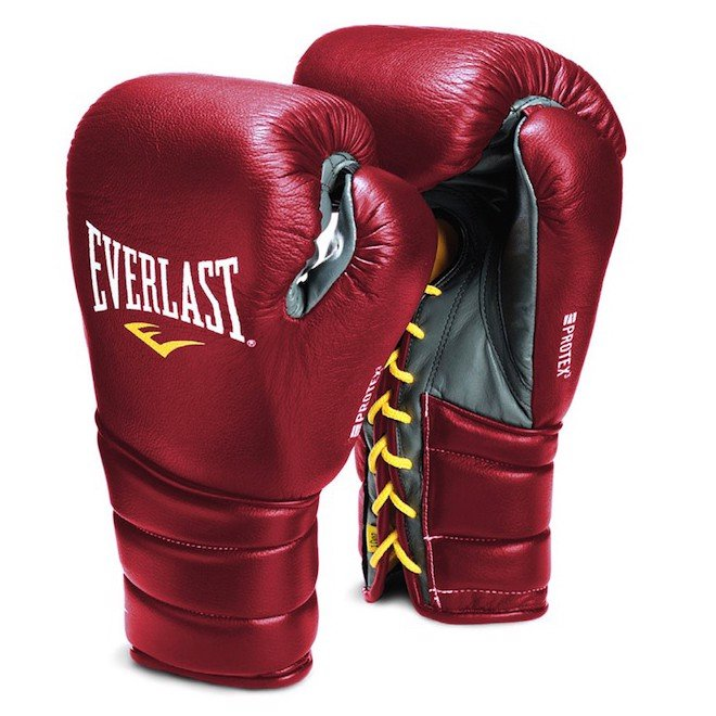 GĂNG TAY EVERLAST PROTEX3 PROFESSIONAL FIGHT BOXING GLOVES - RED