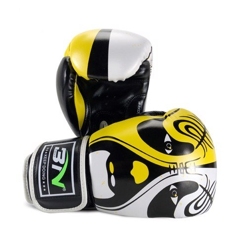 GĂNG TAY BN BEIJING OPERA MASK BOXING GLOVES - BLACK/YELLOW