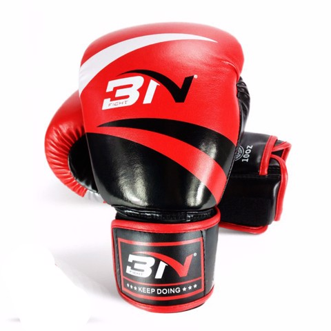 GĂNG TAY BN BOXING GLOVES - BLACK/RED
