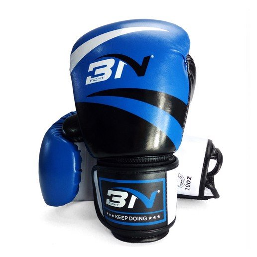 GĂNG TAY BN BOXING GLOVES - BLACK/BLUE