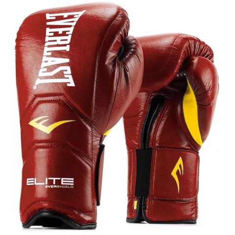 GĂNG TAY EVERLAST ELITE HOOK & LOOP TRAINING GLOVES - RED