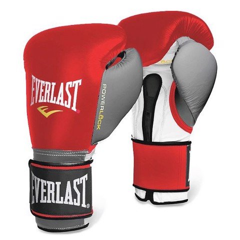 GĂNG TAY EVERLAST POWERLOCK HOOK & LOOP TRAINING GLOVES - RED/GREY