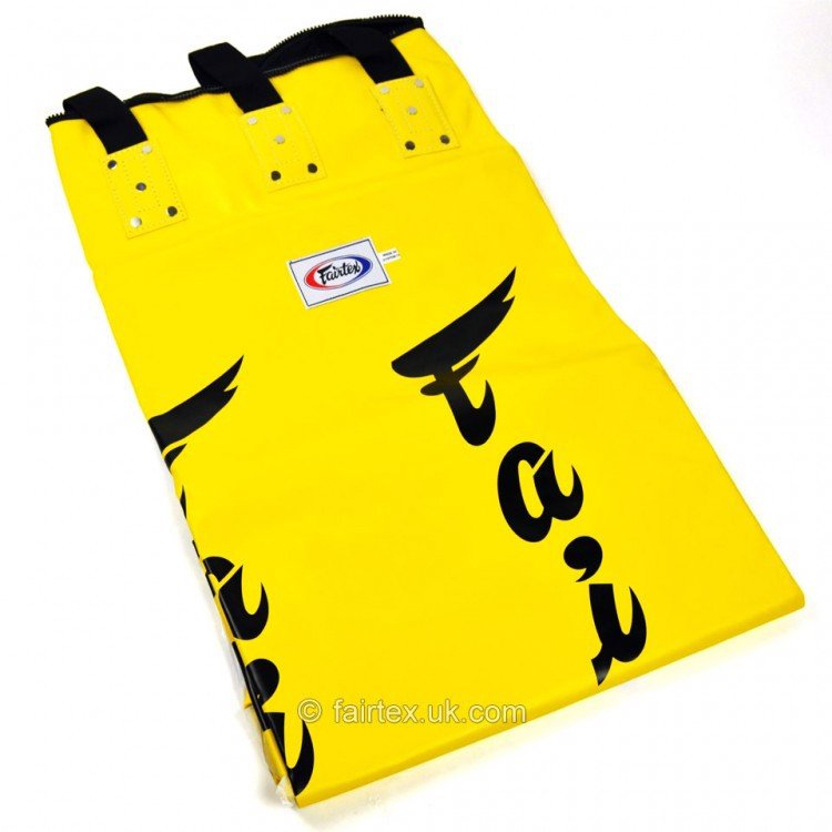 VỎ BAO CÁT FAIRTEX HB6 MUAY THAI BANANA BAG ( FILLED ) - YELLOW