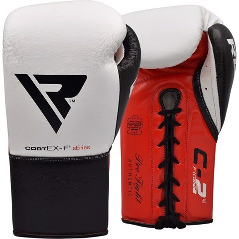 GĂNG TAY RDX LEATHER PRO FC2 BOXING GLOVES - WHITE