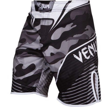 QUẦN MMA VENUM CAMO HERO FIGHT SHORTS - BLACK/WHITE