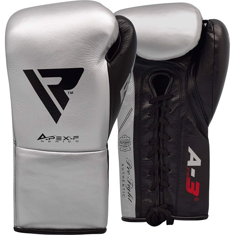 GĂNG TAY RDX LEATHER PRO FA3 BOXING GLOVES - SILVER