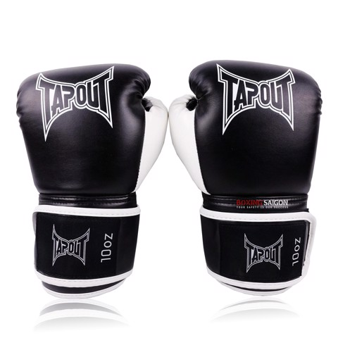 GĂNG TAY TAPOUT BOXING GLOVES - BLACK/WHITE