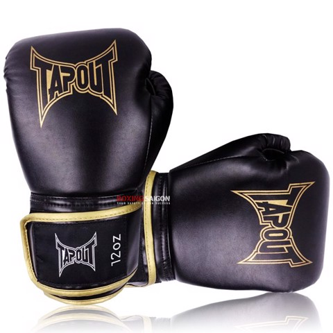 GĂNG TAY TAPOUT BOXING GLOVES - BLACK/GOLD