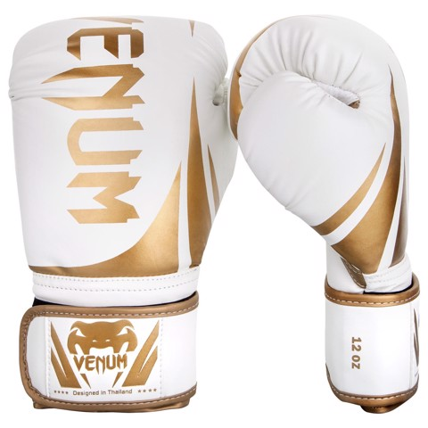 GĂNG TAY VENUM CHALLENGER 2.0 BOXING GLOVES - WHITE/GOLD