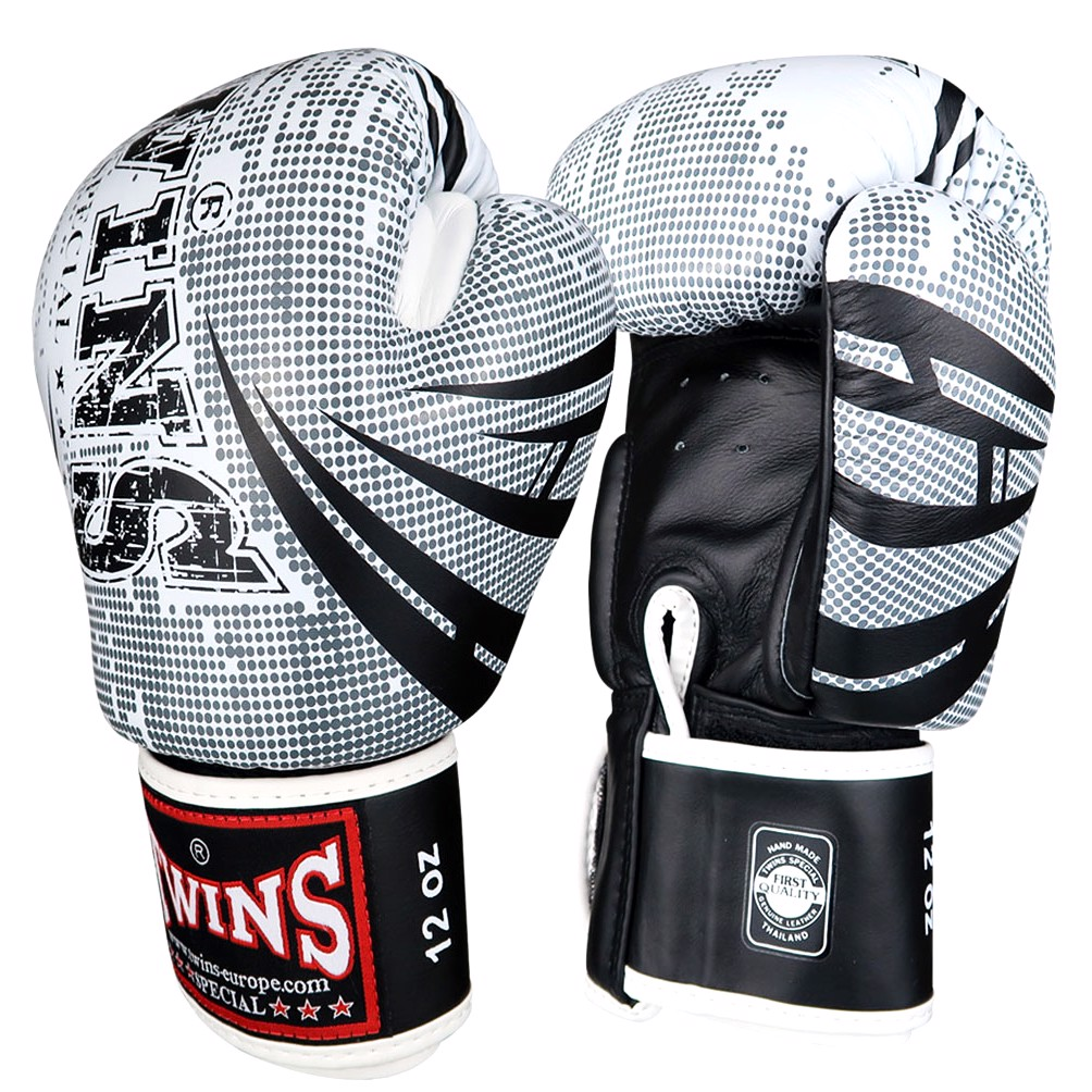 GĂNG TAY TWINS FBGVL3-TW5 FANCY BOXING GLOVES - WHITE/BLACK