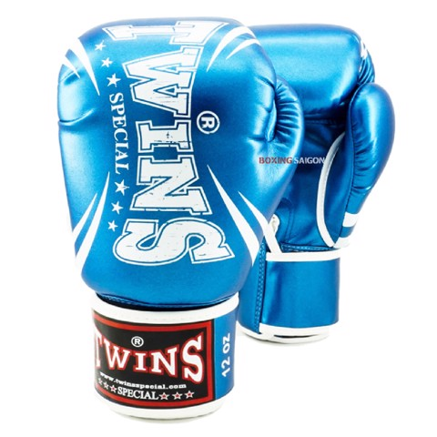 GĂNG TAY TWINS FBGVS3-TW6 FANCY BOXING GLOVES - METALLIC BLUE