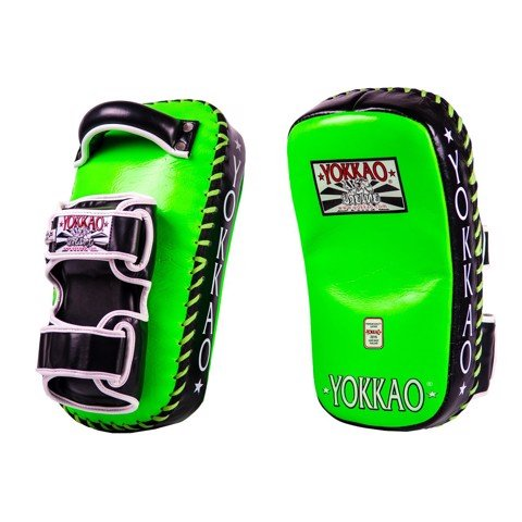 ĐÍCH ĐÁ YOKKAO CURVED KICKING PADS - NEON GREEN/BLACK