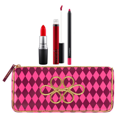 GIFTSET MAC NUTCRACKER SWEET RED LIP BAG