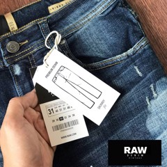 Jean Raw Wash Cào