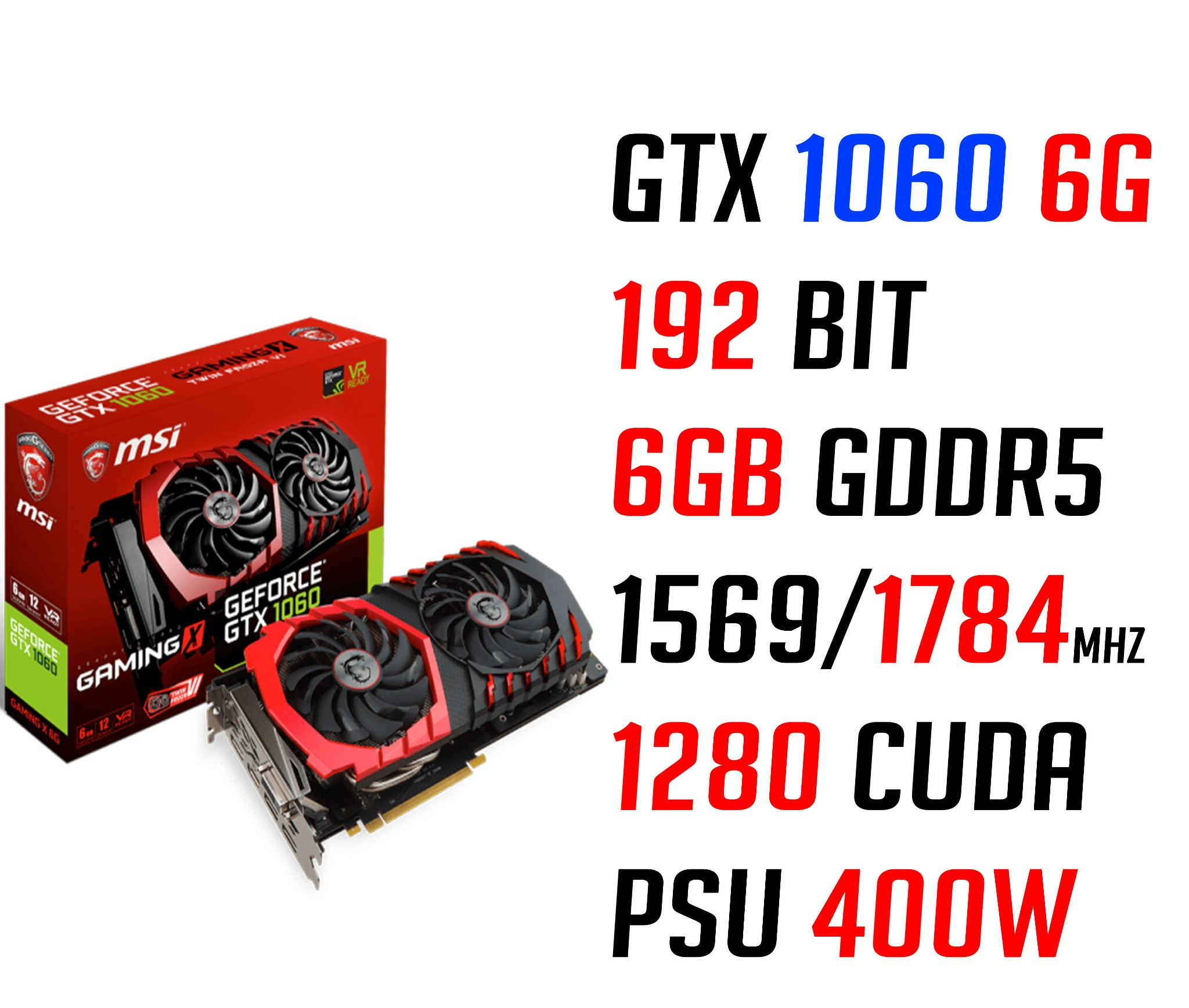 MSI GTX 1060 GAMING X 6G GDDR5