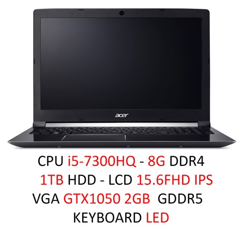 Laptop Gaming Acer Asprie 7 A715-71G-52WP (NX.GP8SV.005)