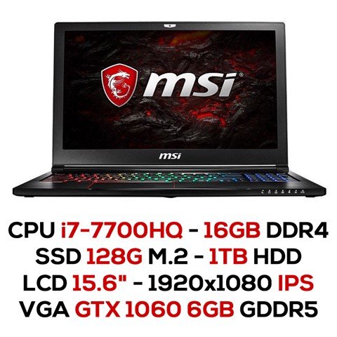 Laptop Gaming MSI GS63 7RF-259XVN