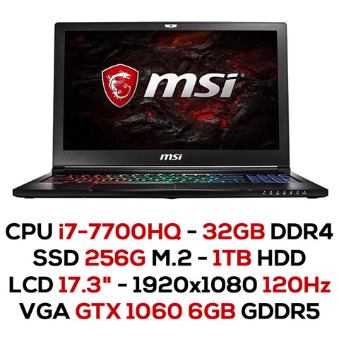 Laptop Gaming MSI GS73VR 7RF-265XVN