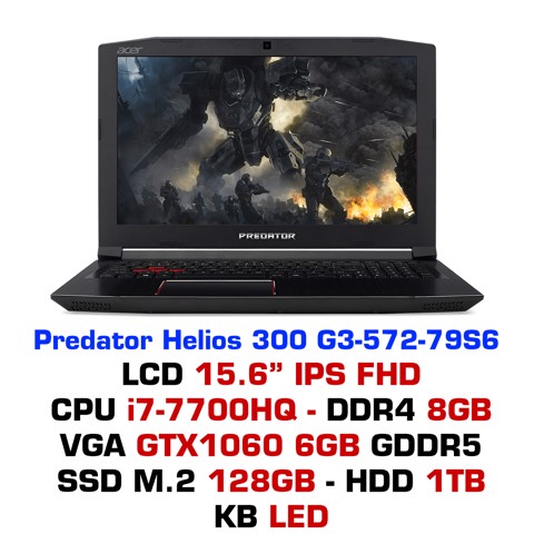 Laptop Gaming Acer Predator Helios 300 7th G3-572-79S6 NH.Q2BSV.002