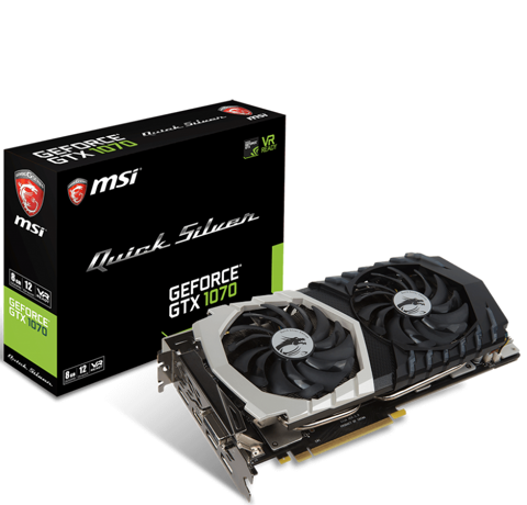MSI GTX 1070 Quick Silver 8G GDDR5 Limited Edtion