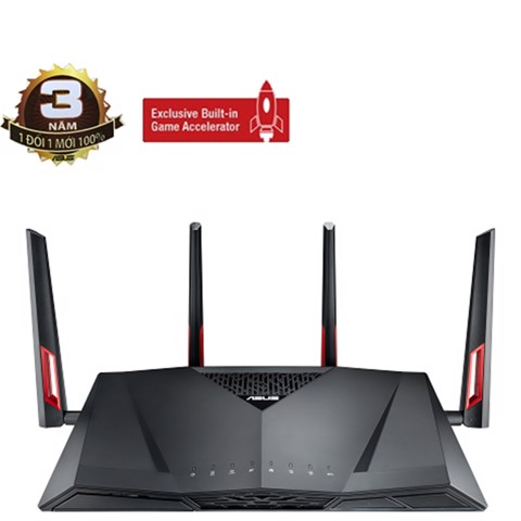 ASUS RT-AC88U (Gaming Wifi Router) AC3100 MU-MIMO WTFast Dual Band
