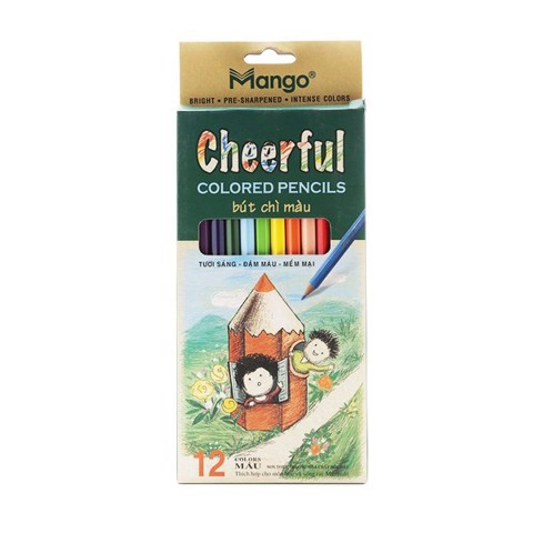 Bút chì 12 màu Cheerful Colored Pencils - MGVN 06