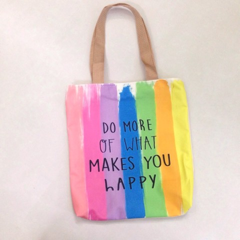 TÚI TOTE DO MORE OF WHAT MAKES YOU HAPPY