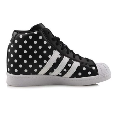 Giaythethaonam.vn - S81377 - Giày Adidas Nữ Originals Superstar Up w Polka Dots Black