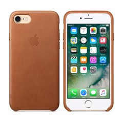 Ốp Lưng Iphone 7 Plus Leather Case - Màu Nâu Đậm