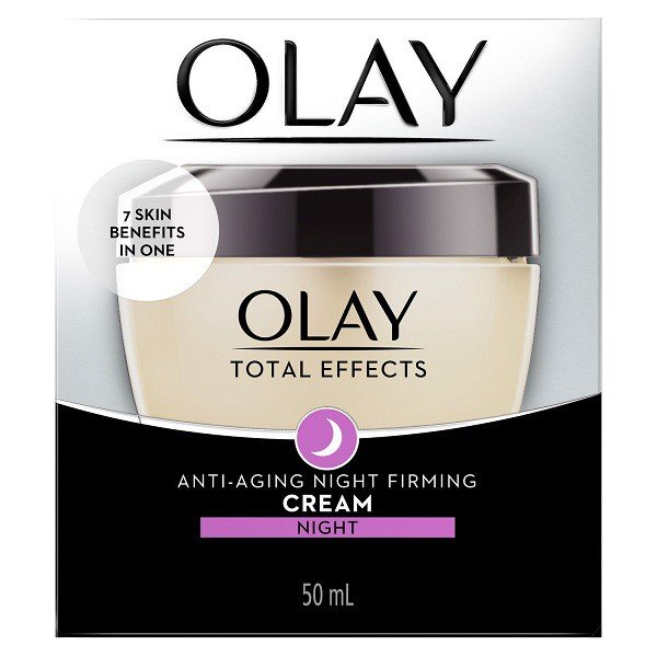 Dưỡng Olay Total Effects Night Firming Cream.