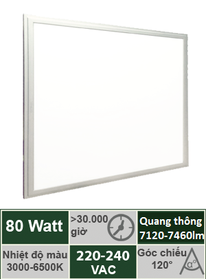 Đèn Panel Tấm 600x1200 80W Vinaled PL-DS80/PL-DW80