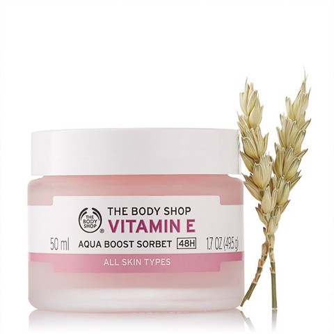 Kem dưỡng ẩm The Body Shop Vitamin E Aqua Boost Sorbet All Skin Types 50ml