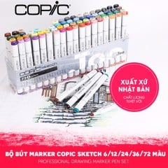 Bộ marker COPIC Sketch 6/12/24/36/72 màu - COPIC Sketch Marker Set 6/12/24/36/72 colors