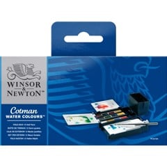 Bộ màu nước WINSOR 12 màu - WINSOR & NEWTON COTMAN Watercolor Field Box Set 12