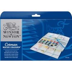 Bộ màu nước WINSOR 24 màu - WINSOR & NEWTON Cotman watercolour Painting Plus Set 24