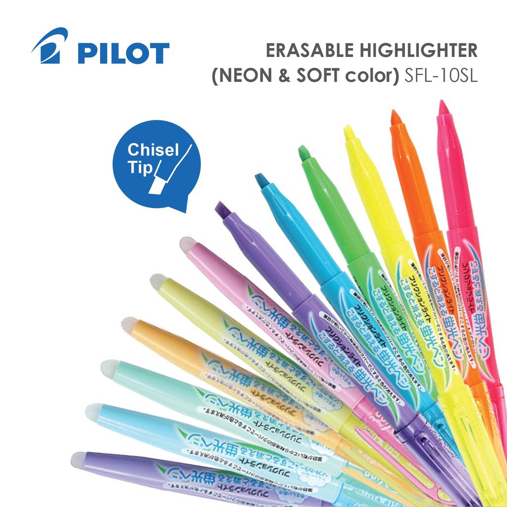 Bộ bút Highlight PILOT - PILOT FriXion Erasable Highlighter Set 6