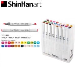 Bút marker TOUCH TWIN BRUSH MARKER set 24