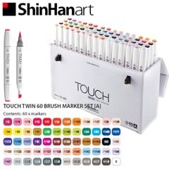 Bộ bút marker SHINHANART - SHINHANART Touch Twin Brush Marker Set 60A