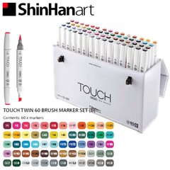 Bộ bút marker SHINHANART - SHINHANART Touch Twin Brush Marker Set 60B