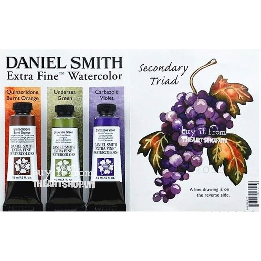 Bộ màu nước DANIEL SMITH dạng tuýp 15ml - DANIEL SMITH Extra Fine Watercolour Set 3 - Tube 15ml