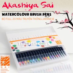 AKASHIYA SAI Watercolor Brush Pen - Set 5 Colors & Set 20 Colors