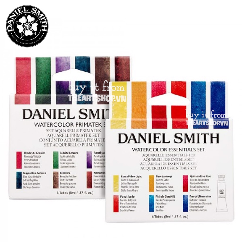 Bộ màu nước DANIEL SMITH dạng tuýp 5ml - DANIEL SMITH Extra Fine Watercolour Set 6/10 - Tube 5ml