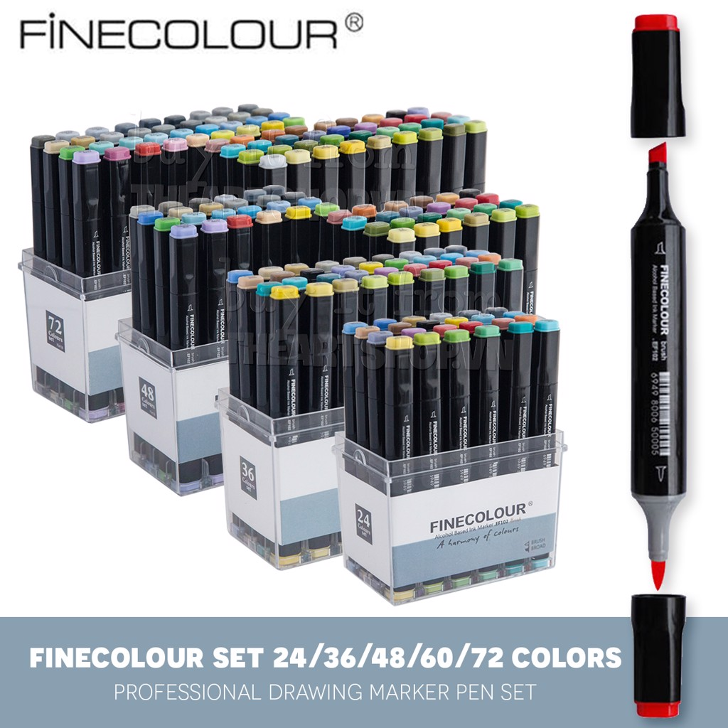 Bộ bút marker FINECOLOUR - FINECOLOUR Brush Marker Set 24/36/48/60/72