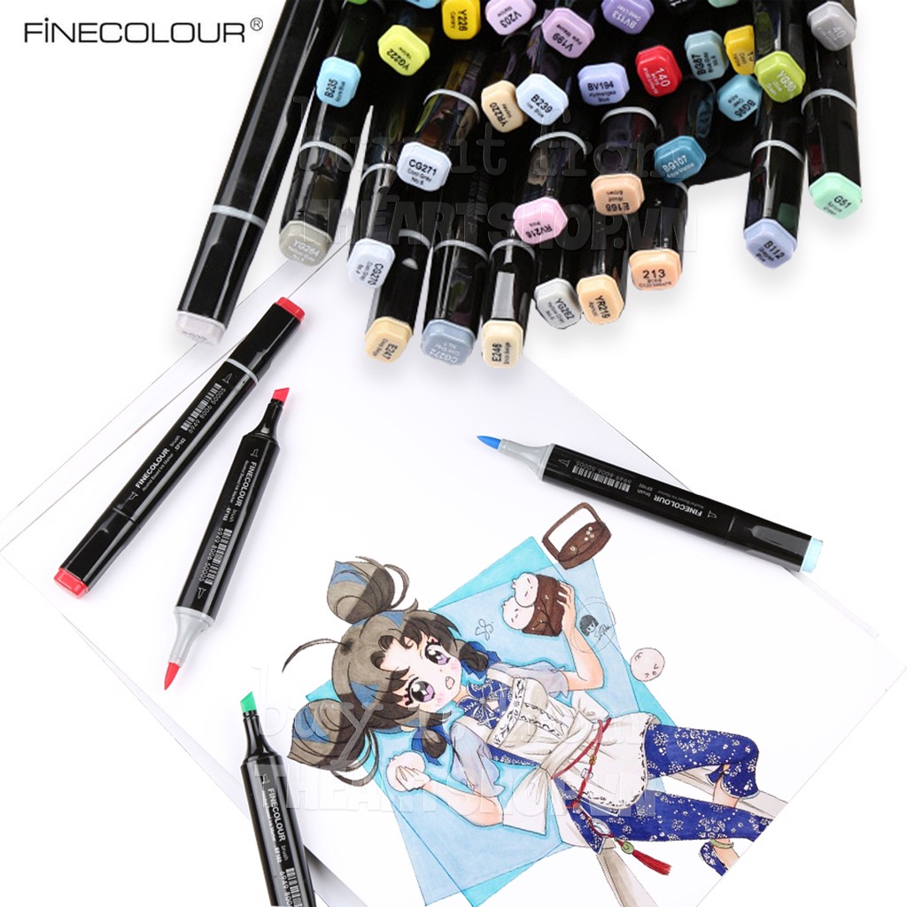 Bút marker FINECOLOUR 480 màu (Bán lẻ) - FINECOLOUR Brush Marker Full 480 Colors (Single)