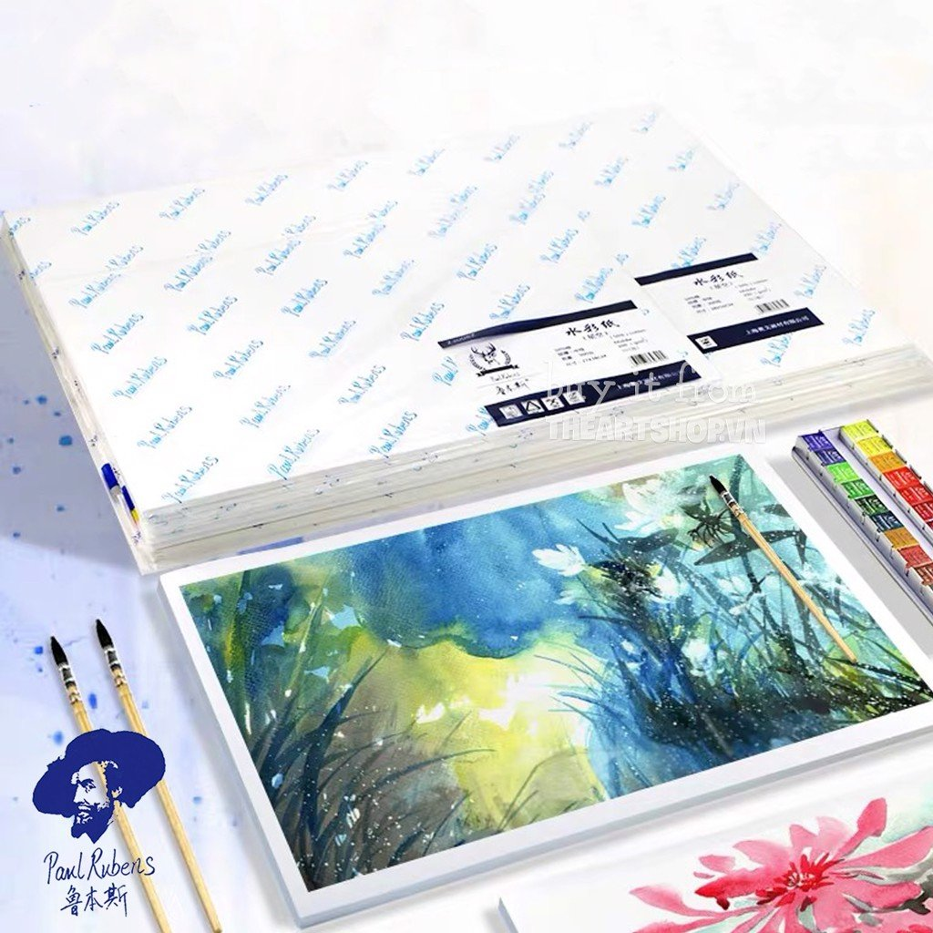 Giấy vẽ màu nước PAUL RUBENS - PAUL RUBENS Watercolor Paper (Cold Press) 50% Cotton