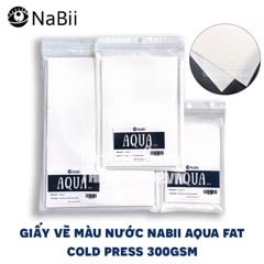 Giấy vẽ màu nước NABII AQUA FAT - NABII AQUA FAT Watercolor Paper (COLD PRESS 300gsm)