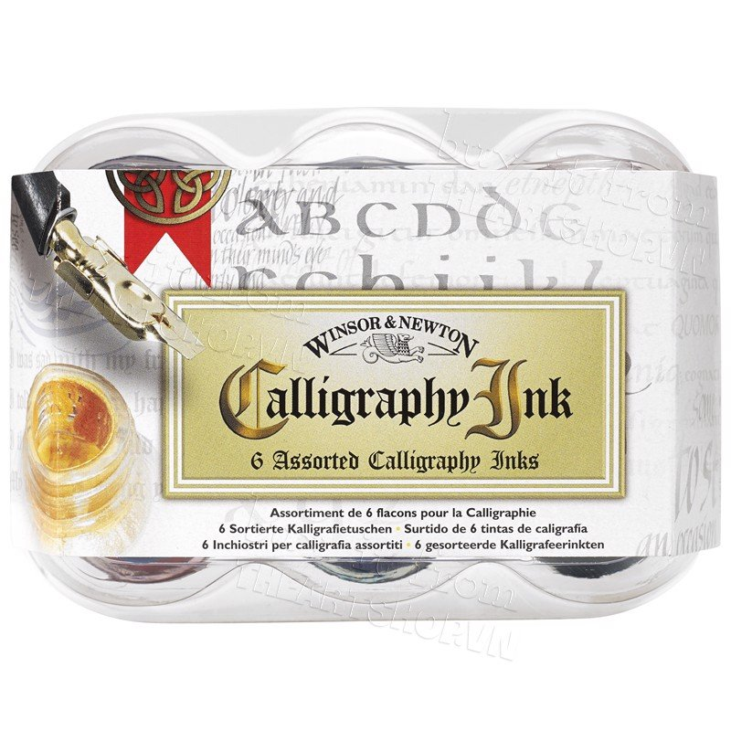 Bộ mực Calligraphy 6 lọ WINSOR - WINSOR & NEWTON Calligraphy ink 6 assorted set (30ml)