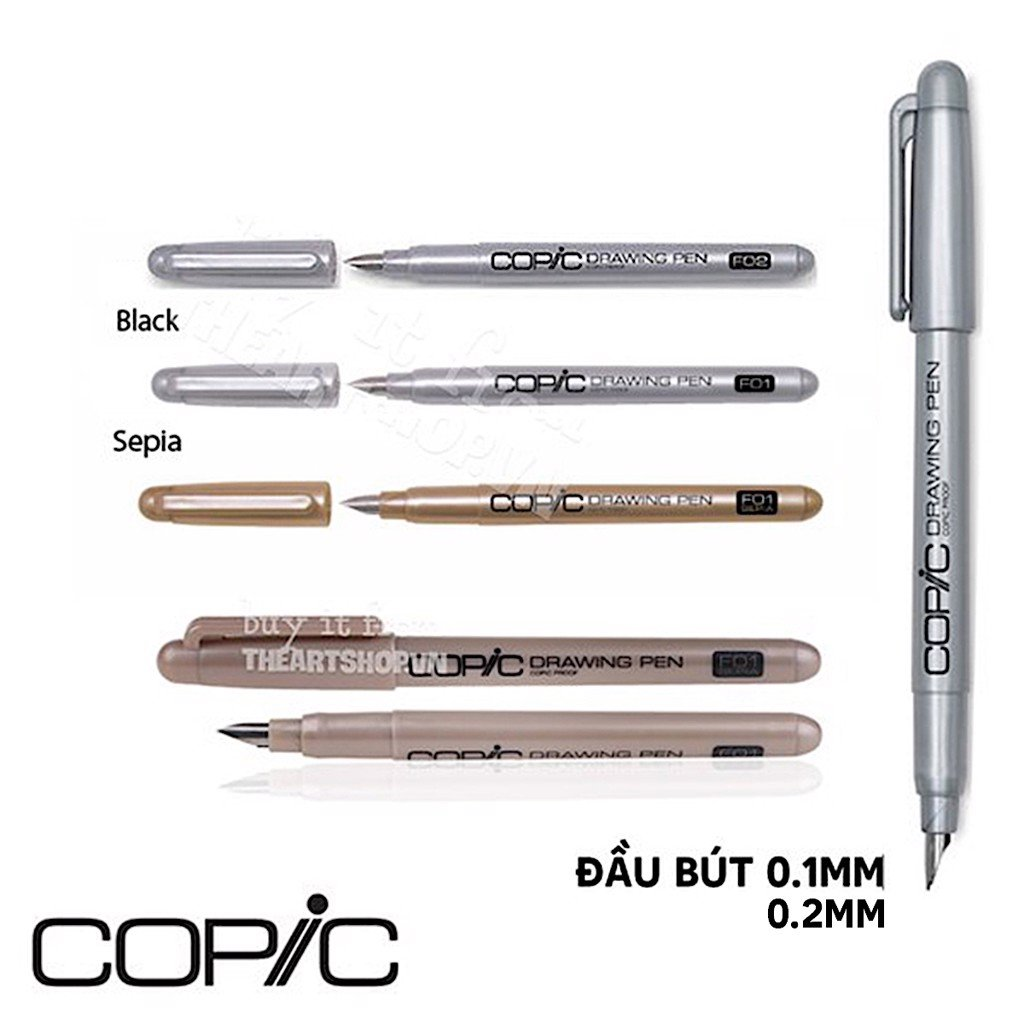 Bút vẽ COPIC - COPIC Drawing Pen 0.1/0.2mm