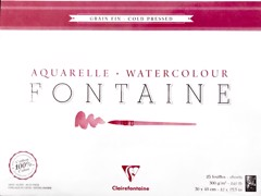 Sổ vẽ màu nước CLAIREFONTAINE - CLAIREFONTAINE Watercolor Pad-Cold Pressed 100% Cotton