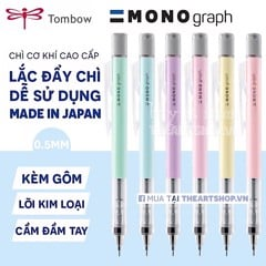 Chì cơ khí lắc đẩy ngòi TOMBOW - TOMBOW Mono *PASTEL COLOR* Graph Shaker Mechanical Pencil 0.5/0.3mm